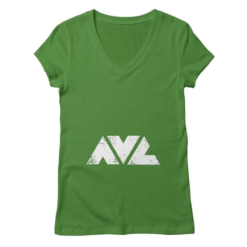 AVL #rideasheville BIG Women's V-Neck by CRANK. outdoors + music lifestyle clothing