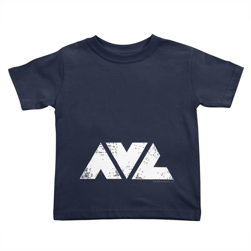 AVL #rideasheville BIG Kids Toddler T-Shirt by CRANK. outdoors + music lifestyle clothing