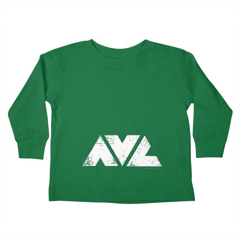 AVL #rideasheville BIG Kids Toddler Longsleeve T-Shirt by CRANK. outdoors + music lifestyle clothing