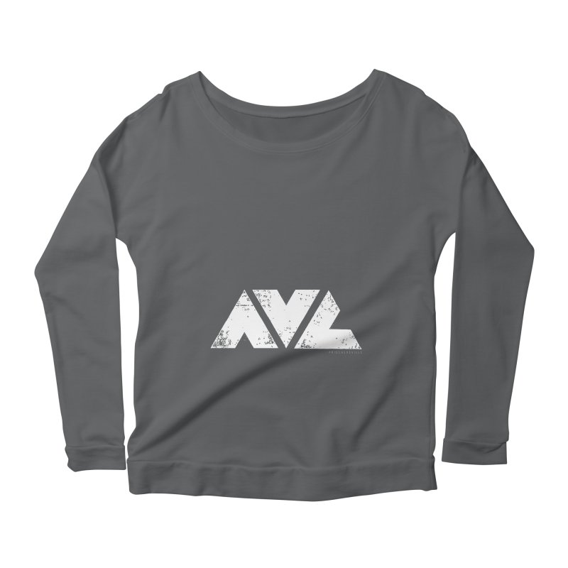 AVL #rideasheville BIG Women's Longsleeve Scoopneck  by CRANK. outdoors + music lifestyle clothing