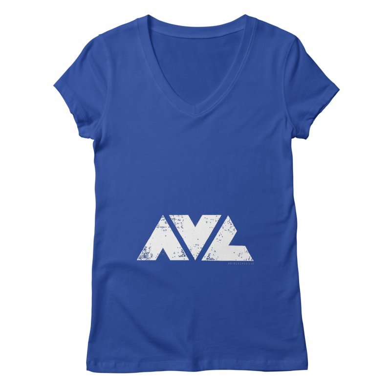 AVL #rideasheville BIG Women's V-Neck by CRANK. outdoors + music lifestyle clothing