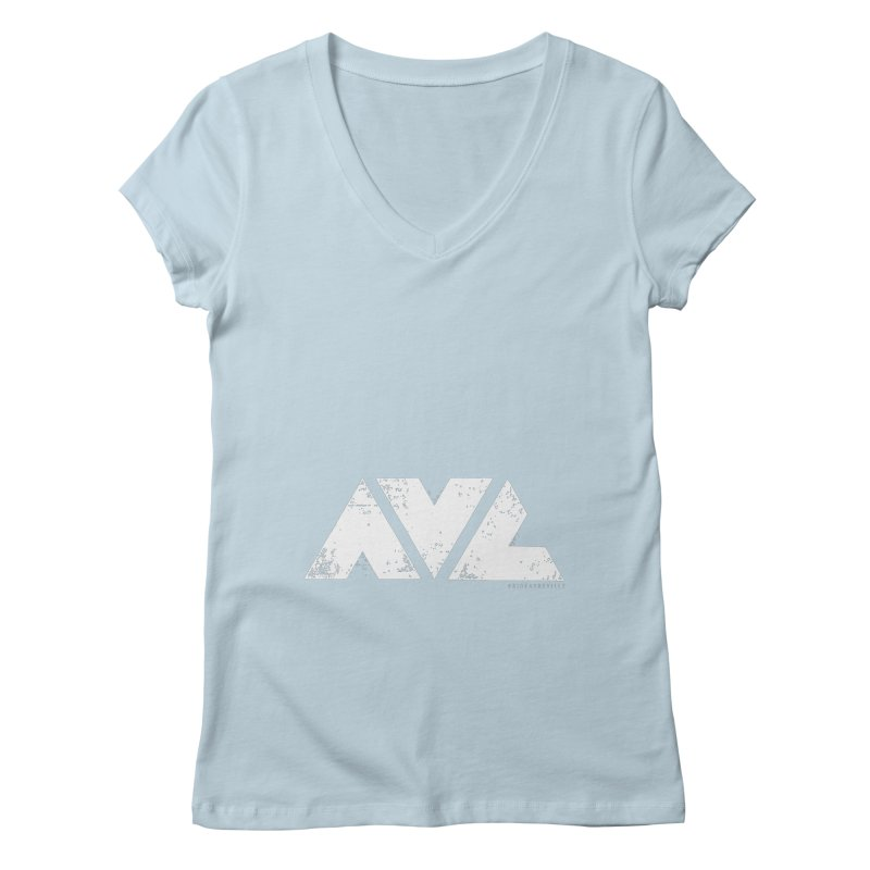 AVL #rideasheville BIG Women's Regular V-Neck by CRANK. outdoors + music lifestyle clothing