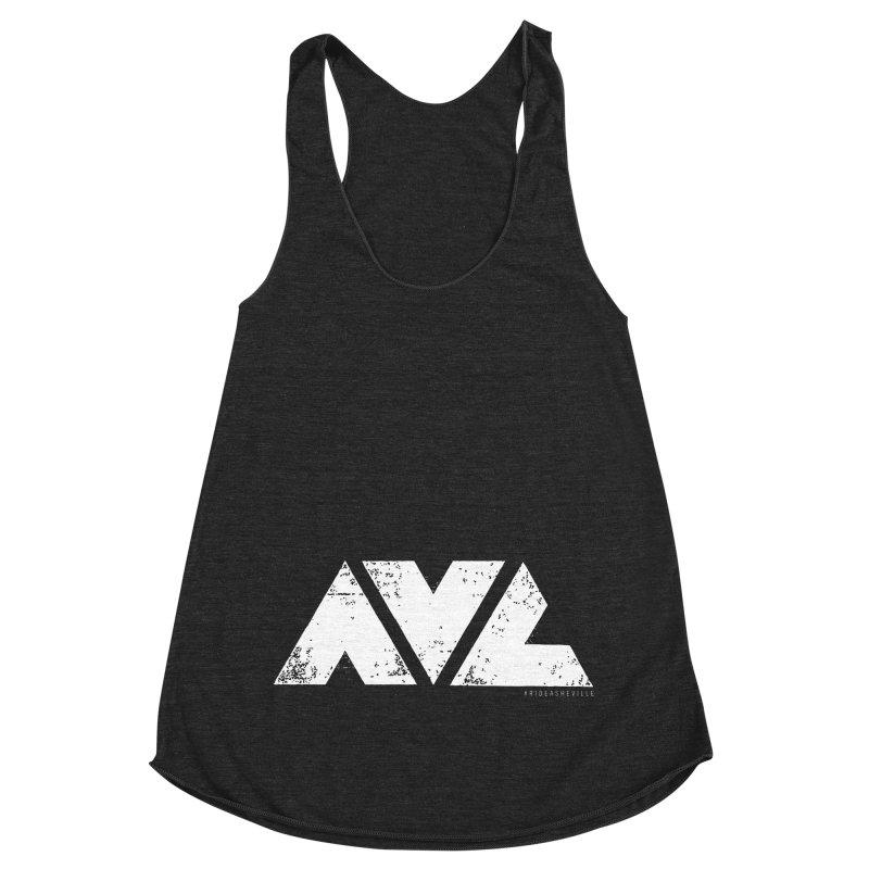 AVL #rideasheville BIG Women's Racerback Triblend Tank by CRANK. outdoors + music lifestyle clothing