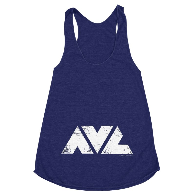AVL #rideasheville BIG Women's Racerback Triblend Tank by CRANK. outdoors + music lifestyle clothing