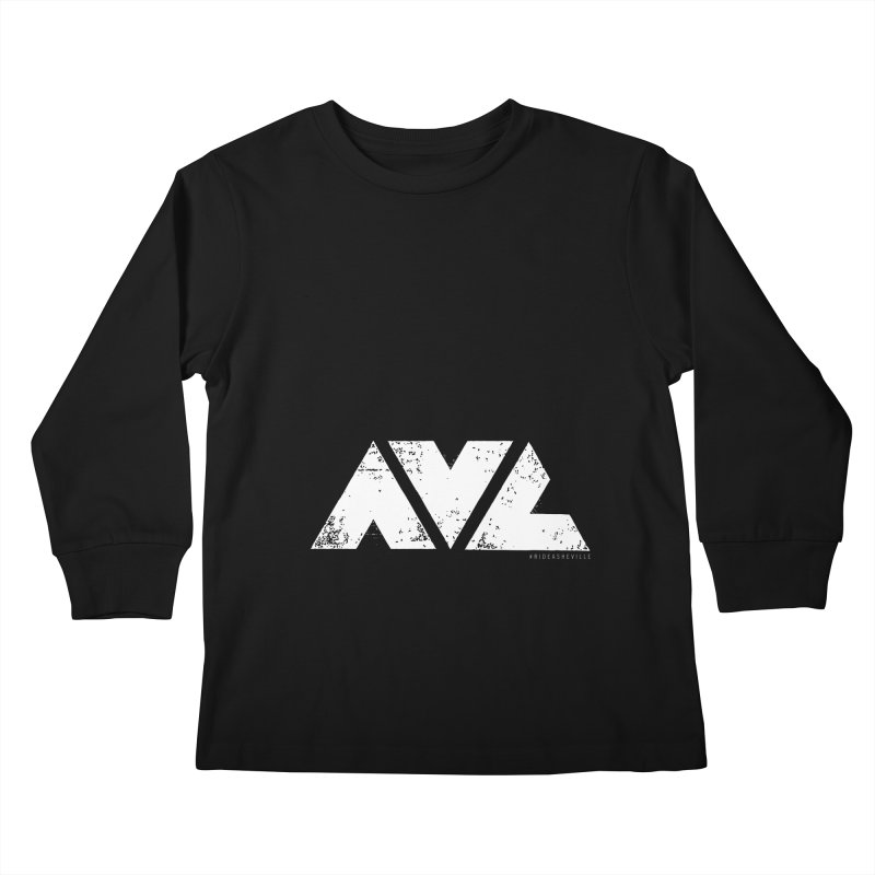 AVL #rideasheville BIG Kids Longsleeve T-Shirt by CRANK. outdoors + music lifestyle clothing