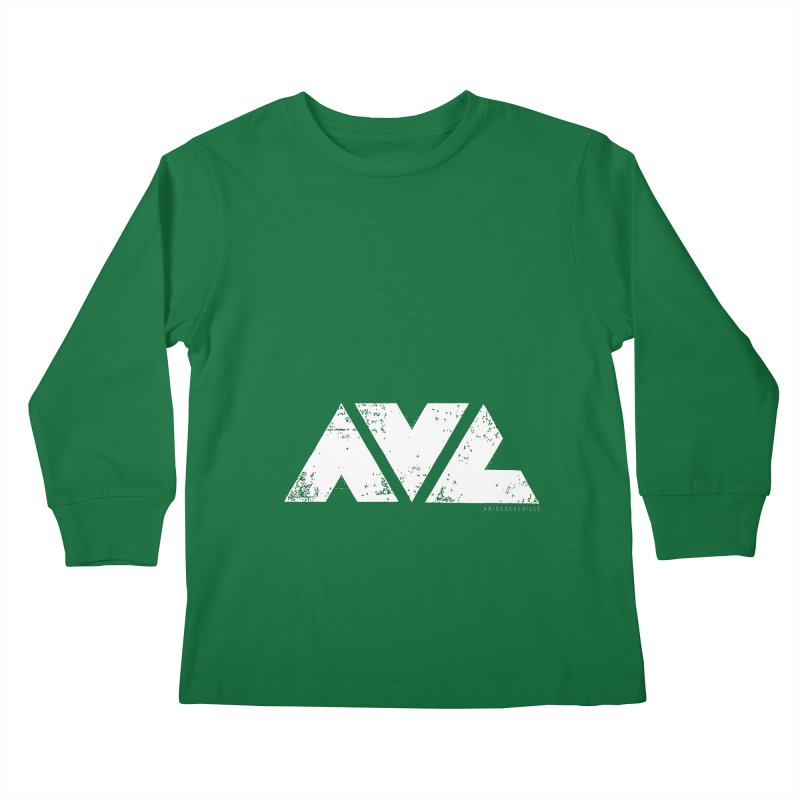 AVL #rideasheville BIG Kids Longsleeve T-Shirt by CRANK. outdoors + music lifestyle clothing