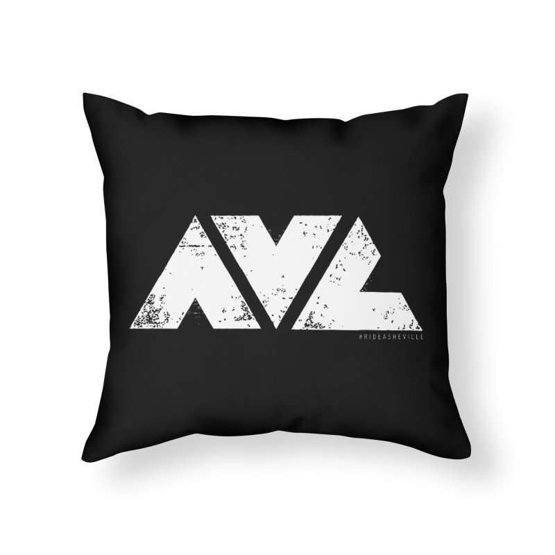 AVL #rideasheville BIG Home Throw Pillow by CRANK. outdoors + music lifestyle clothing