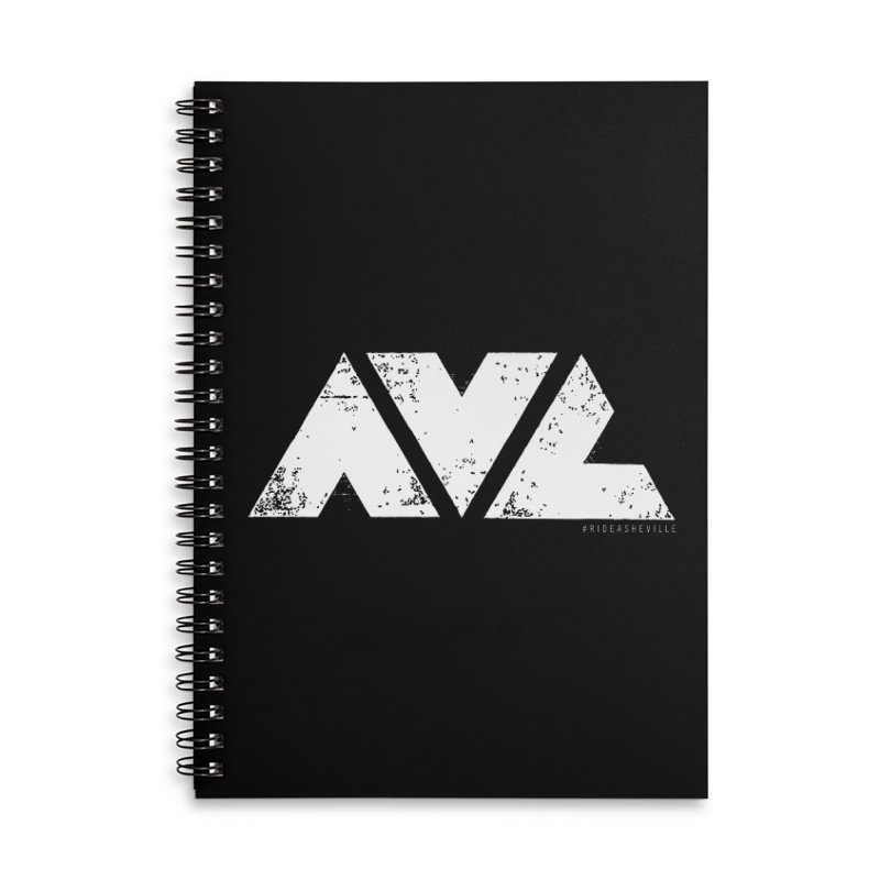 AVL #rideasheville BIG Accessories Lined Spiral Notebook by CRANK. outdoors + music lifestyle clothing