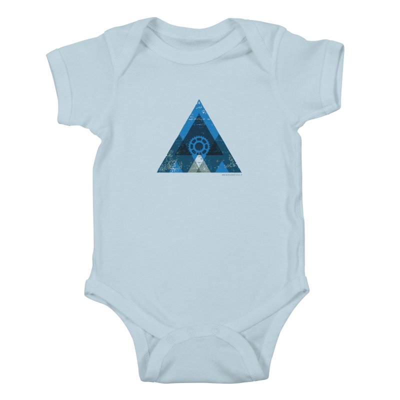Hey Mountain Kids Baby Bodysuit by CRANK. outdoors + music lifestyle clothing