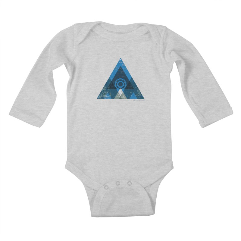 Hey Mountain Kids Baby Longsleeve Bodysuit by CRANK. outdoors + music lifestyle clothing