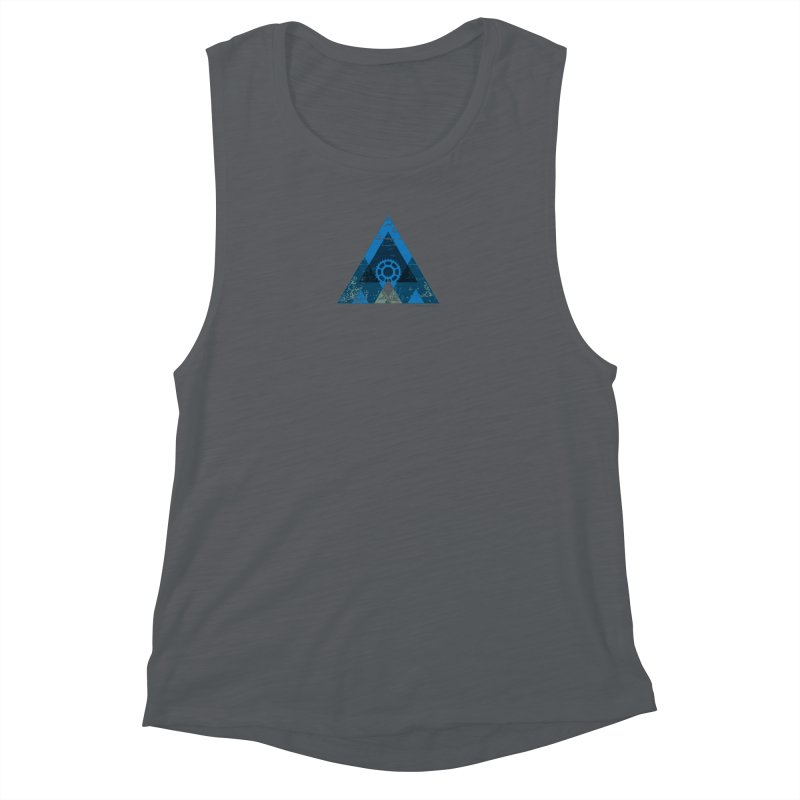 Hey Mountain Women's Muscle Tank by CRANK. outdoors + music lifestyle clothing