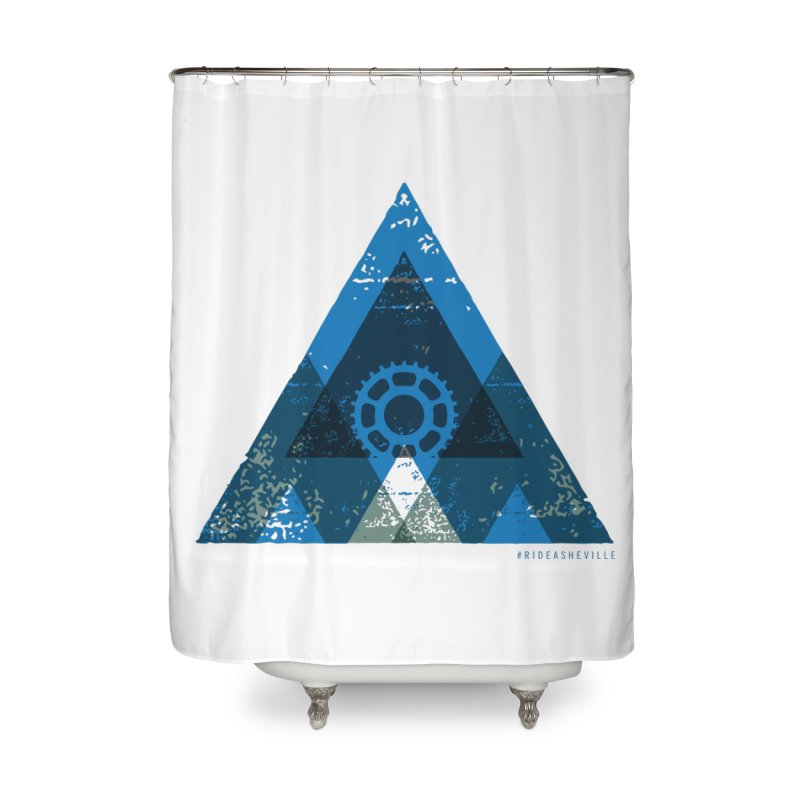 Hey Mountain Home Shower Curtain by CRANK. outdoors + music lifestyle clothing