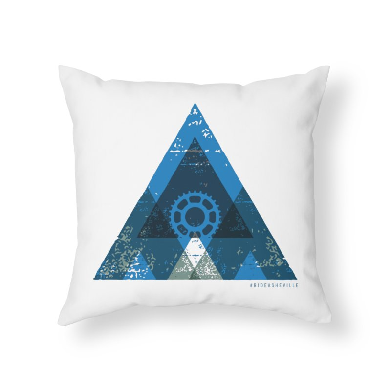 Hey Mountain Home Throw Pillow by CRANK. outdoors + music lifestyle clothing