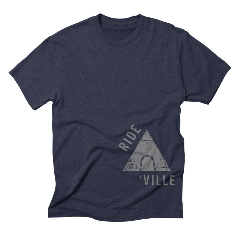 RIDE AVL CHAIN Men's Triblend T-shirt by CRANK. outdoors + music lifestyle clothing