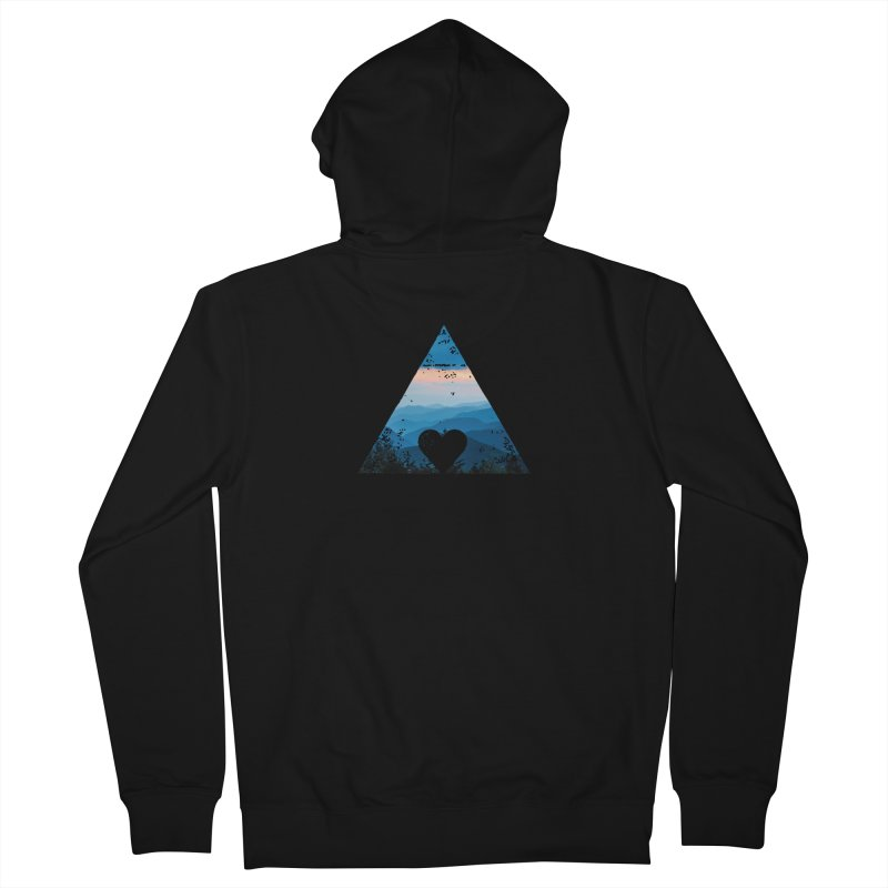 Love the Mountains Men's Zip-Up Hoody by CRANK. outdoors + music lifestyle clothing