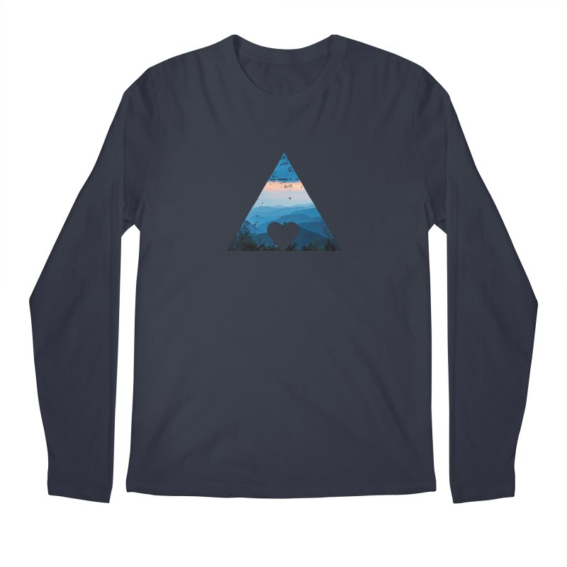 Love the Mountains Men's Longsleeve T-Shirt by CRANK. outdoors + music lifestyle clothing