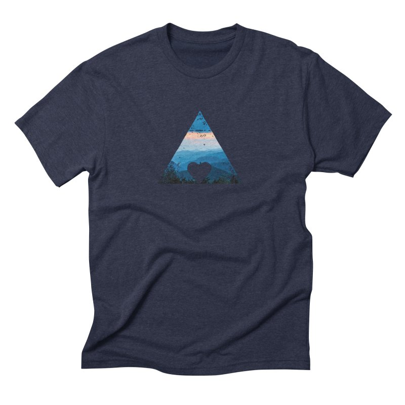 Love the Mountains Men's Triblend T-shirt by CRANK. outdoors + music lifestyle clothing