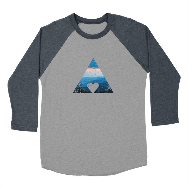 Love the Mountains Men's Baseball Triblend T-Shirt by CRANK. outdoors + music lifestyle clothing
