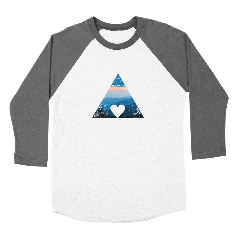Love the Mountains Men's Baseball Triblend Longsleeve T-Shirt by CRANK. outdoors + music lifestyle clothing