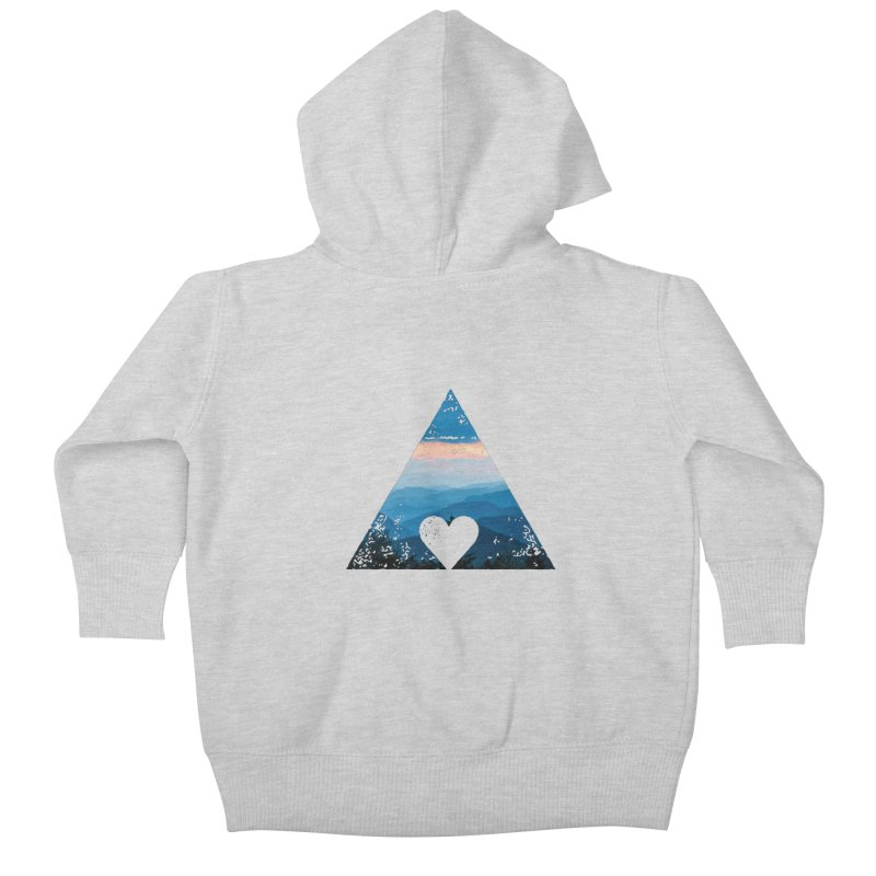Love the Mountains Kids Baby Zip-Up Hoody by CRANK. outdoors + music lifestyle clothing