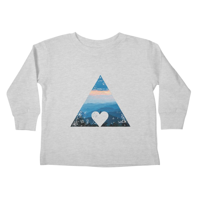 Love the Mountains Kids Toddler Longsleeve T-Shirt by CRANK. outdoors + music lifestyle clothing
