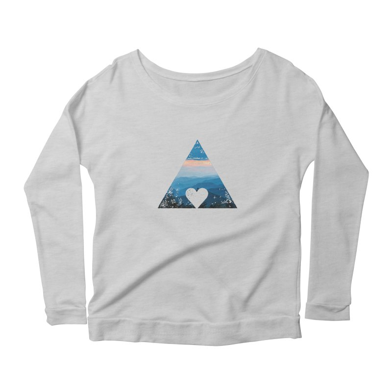 Love the Mountains Women's Longsleeve Scoopneck  by CRANK. outdoors + music lifestyle clothing