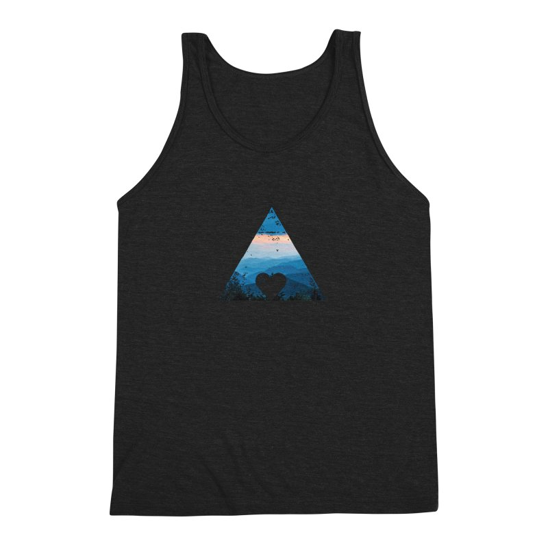 Love the Mountains Men's Triblend Tank by CRANK. outdoors + music lifestyle clothing