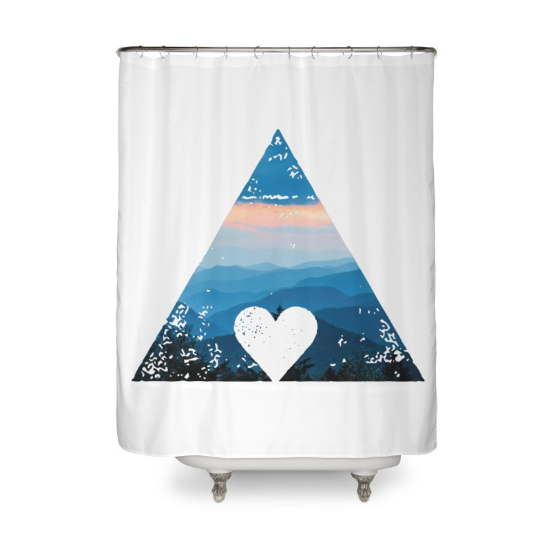 Love the Mountains Home Shower Curtain by CRANK. outdoors + music lifestyle clothing