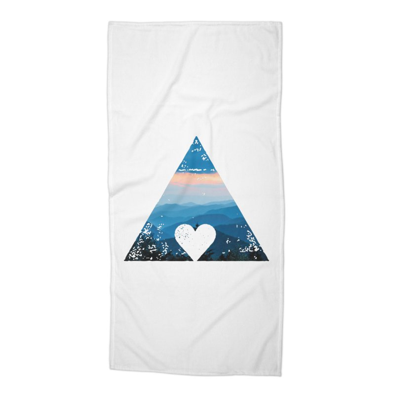 Love the Mountains Accessories Beach Towel by CRANK. outdoors + music lifestyle clothing