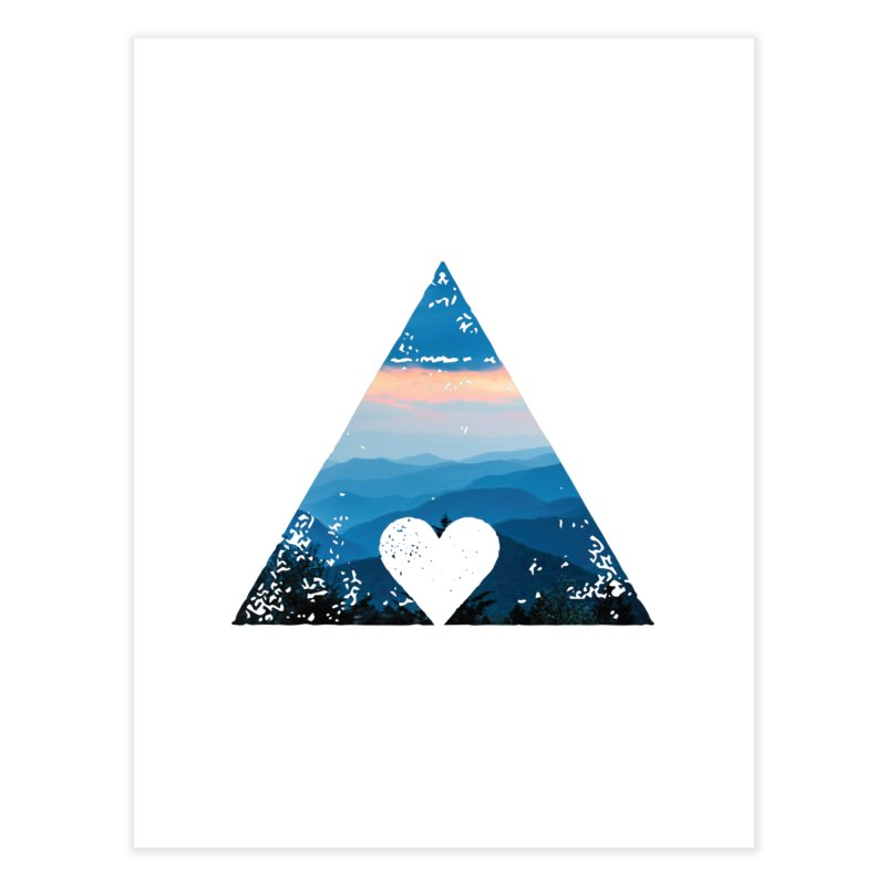Love the Mountains Home Fine Art Print by CRANK. outdoors + music lifestyle clothing
