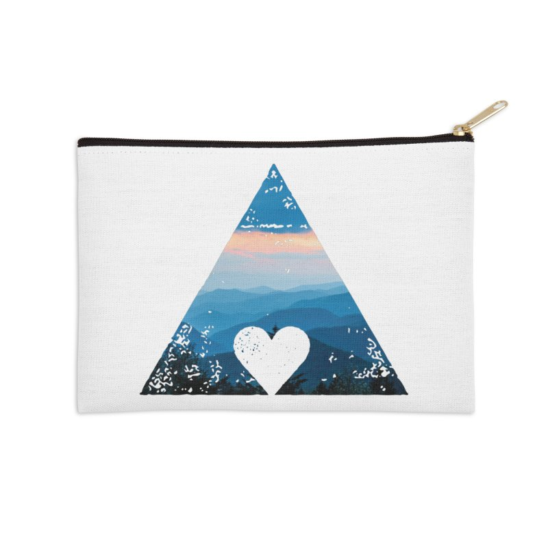Love the Mountains Accessories Zip Pouch by CRANK. outdoors + music lifestyle clothing