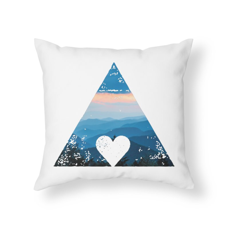 Love the Mountains Home Throw Pillow by CRANK. outdoors + music lifestyle clothing