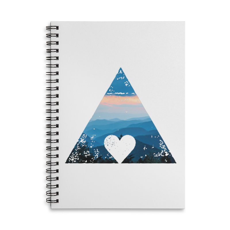 Love the Mountains Accessories Lined Spiral Notebook by CRANK. outdoors + music lifestyle clothing
