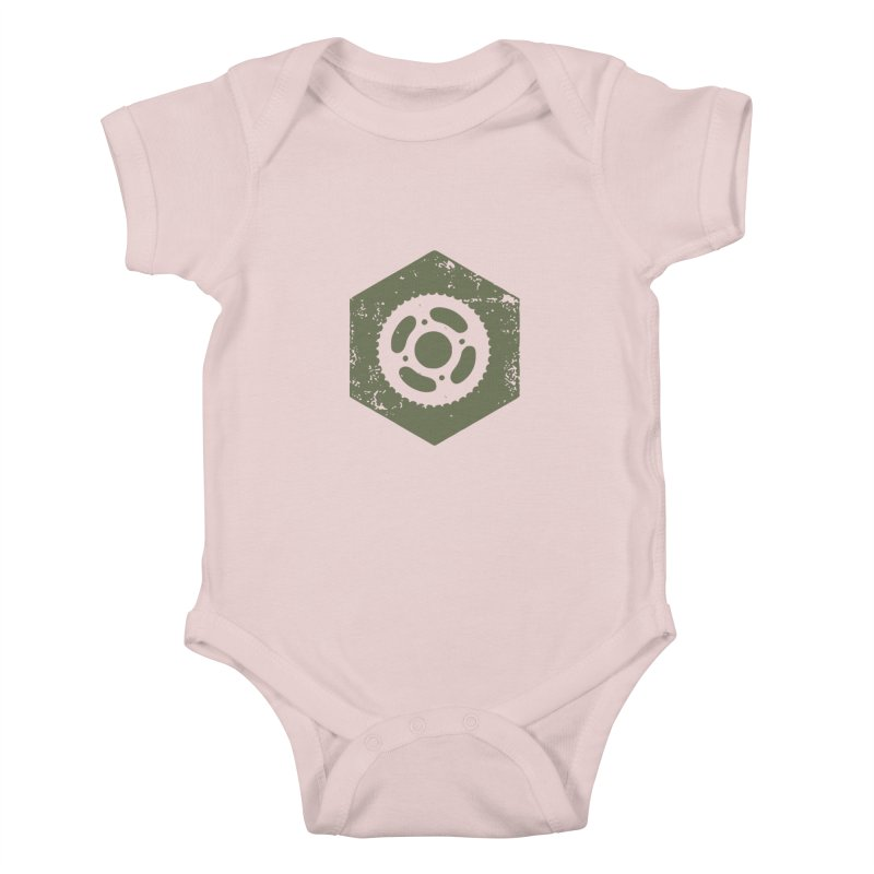 Nuts n' Bolts Kids Baby Bodysuit by CRANK. outdoors + music lifestyle clothing
