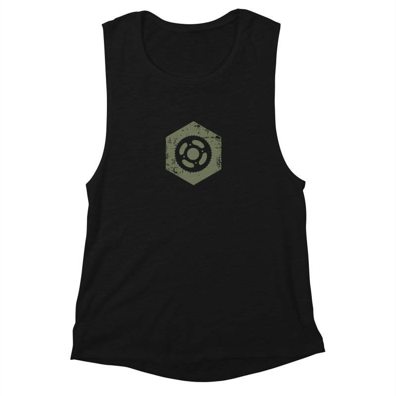 Nuts n' Bolts Women's Muscle Tank by CRANK. outdoors + music lifestyle clothing