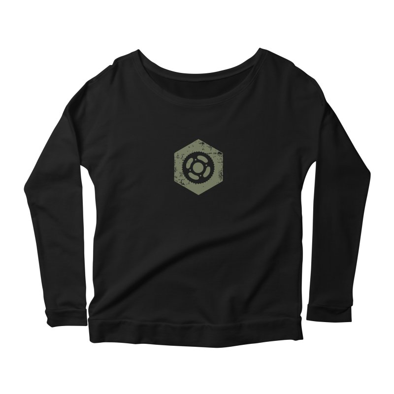 Nuts n' Bolts Women's Scoop Neck Longsleeve T-Shirt by CRANK. outdoors + music lifestyle clothing