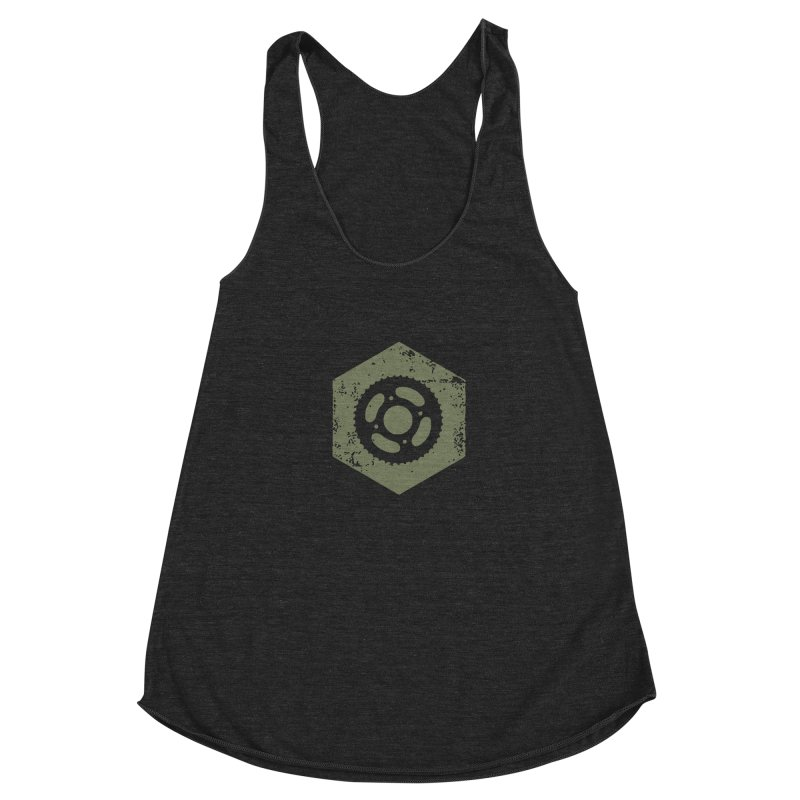 Nuts n' Bolts Women's Racerback Triblend Tank by CRANK. outdoors + music lifestyle clothing