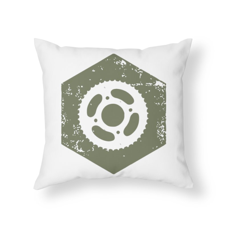 Nuts n' Bolts Home Throw Pillow by CRANK. outdoors + music lifestyle clothing