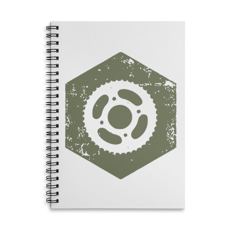 Nuts n' Bolts Accessories Lined Spiral Notebook by CRANK. outdoors + music lifestyle clothing