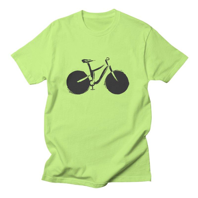 Sumi-e Bike (black) Men's T-Shirt by CRANK. outdoors + music lifestyle clothing