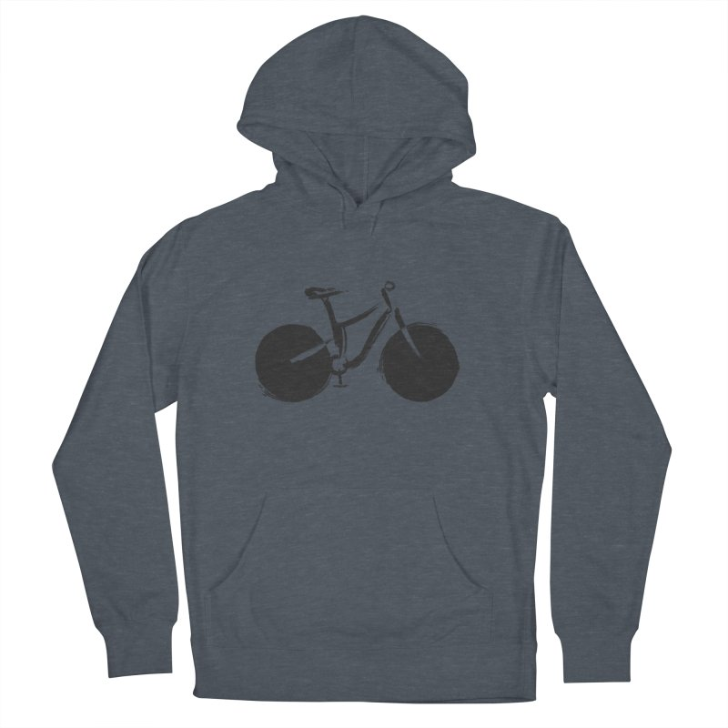 Sumi-e Bike (black) Women's Pullover Hoody by CRANK. outdoors + music lifestyle clothing