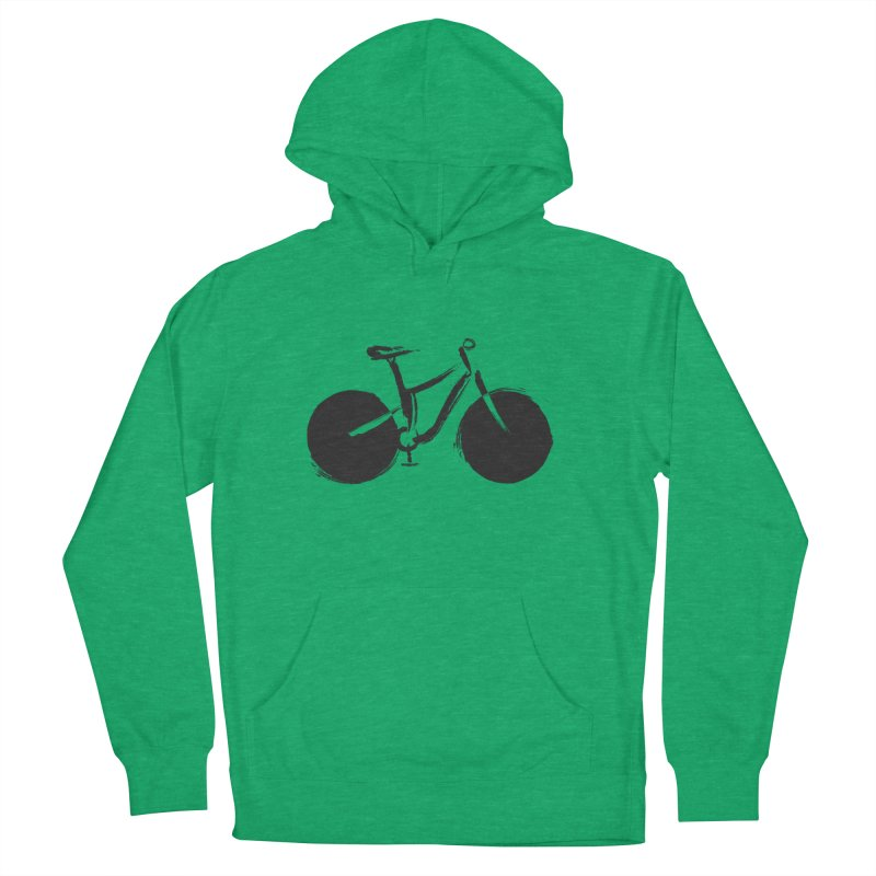 Sumi-e Bike (black) Men's Pullover Hoody by CRANK. outdoors + music lifestyle clothing