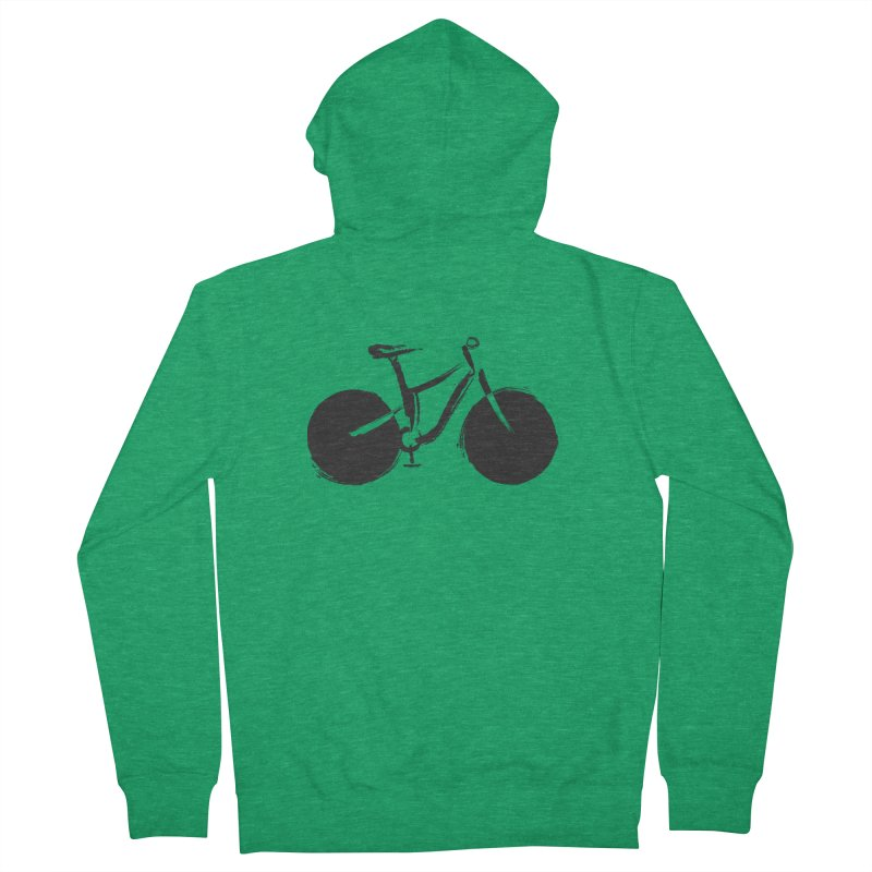Sumi-e Bike (black) Women's Zip-Up Hoody by CRANK. outdoors + music lifestyle clothing