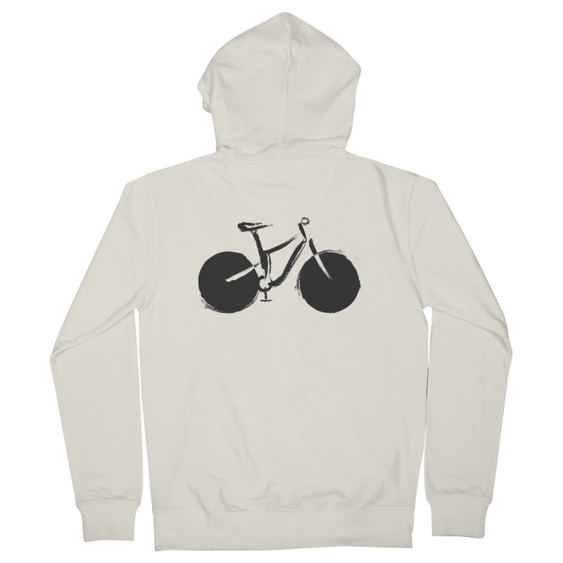 Sumi-e Bike (black) Men's Zip-Up Hoody by CRANK. outdoors + music lifestyle clothing