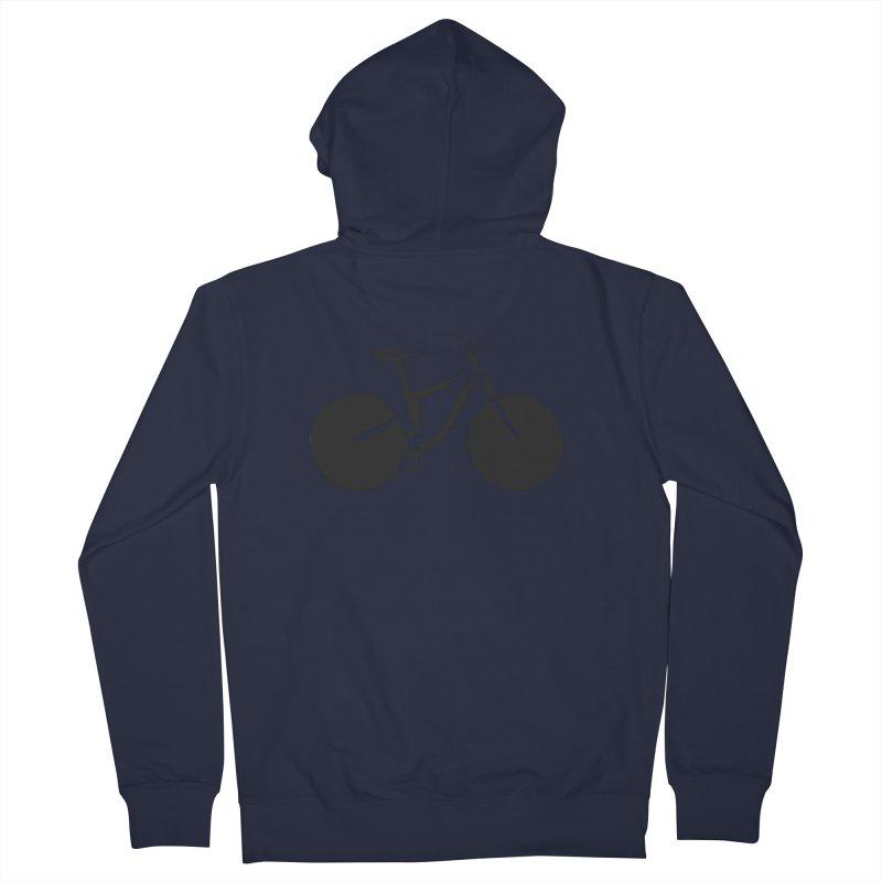 Sumi-e Bike (black) Men's Zip-Up Hoody by CRANK. outdoors + music lifestyle clothing