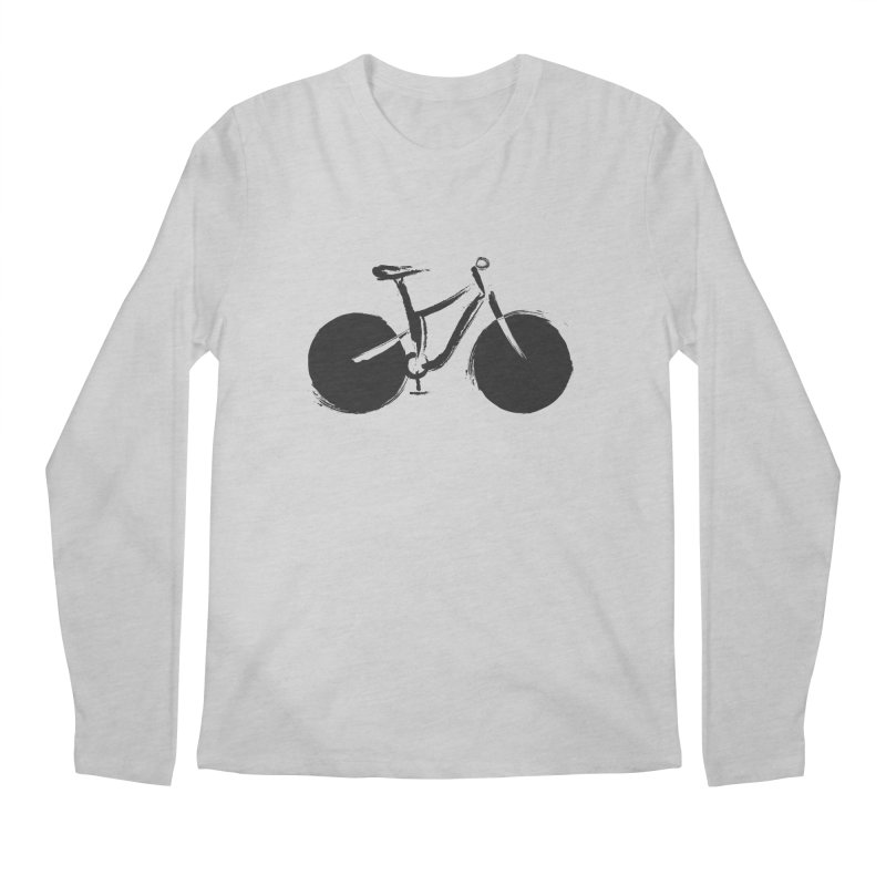 Sumi-e Bike (black) Men's Longsleeve T-Shirt by CRANK. outdoors + music lifestyle clothing