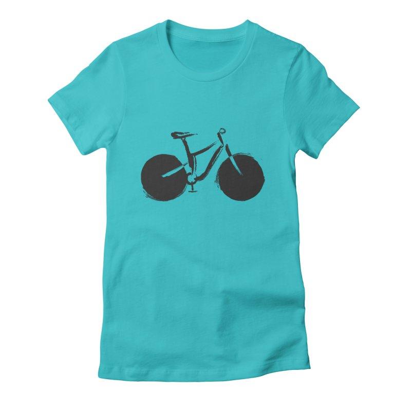 Sumi-e Bike (black) Women's T-Shirt by CRANK. outdoors + music lifestyle clothing
