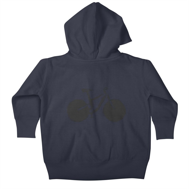 Sumi-e Bike (black) Kids Baby Zip-Up Hoody by CRANK. outdoors + music lifestyle clothing