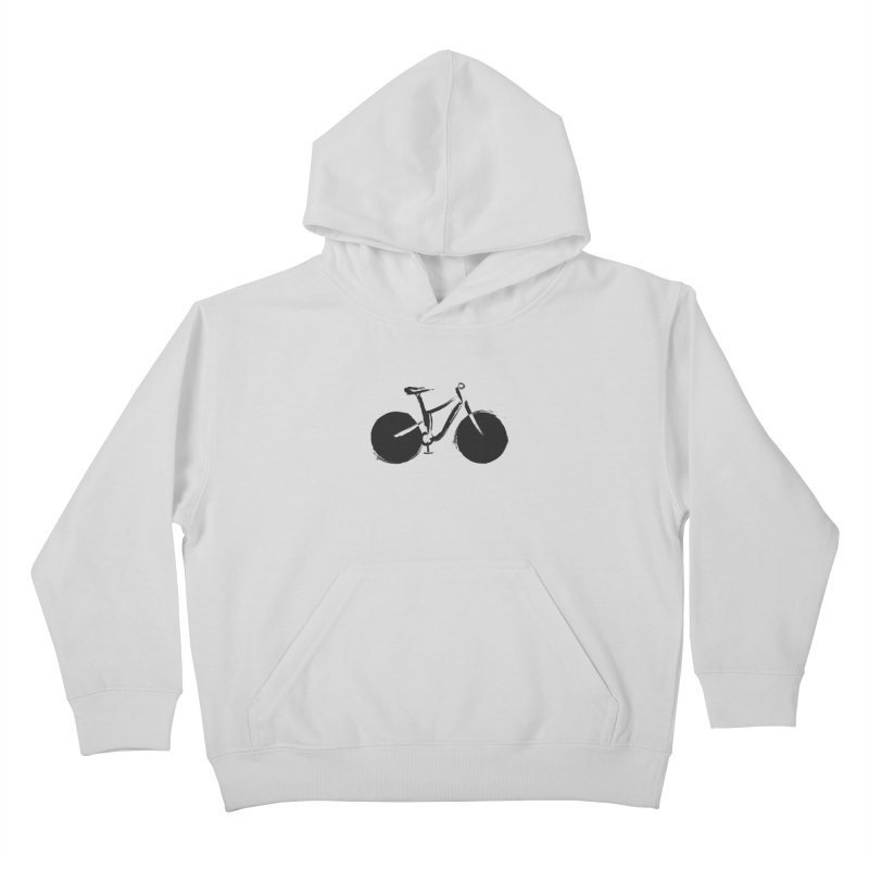 Sumi-e Bike (black) Kids Pullover Hoody by CRANK. outdoors + music lifestyle clothing