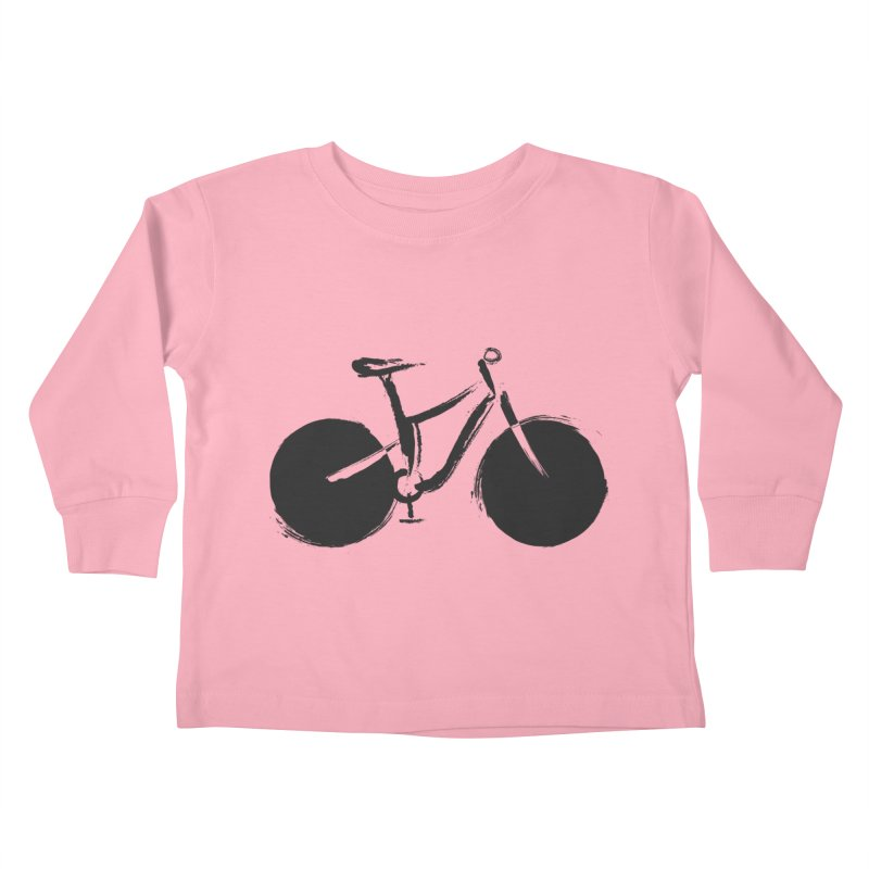 Sumi-e Bike (black) Kids Toddler Longsleeve T-Shirt by CRANK. outdoors + music lifestyle clothing